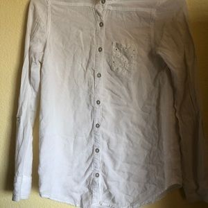 Cute white justice girls size 12 sparkly blouse